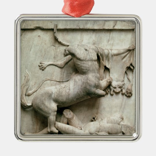 A Centaur triumphing over a Lapith Metal Ornament