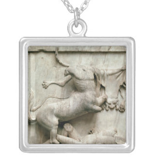 A Centaur triumphing over a Lapith Silver Plated Necklace