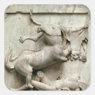 A Centaur triumphing over a Lapith Square Sticker