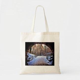 A Central Park Bridge In Winter Tote Bag