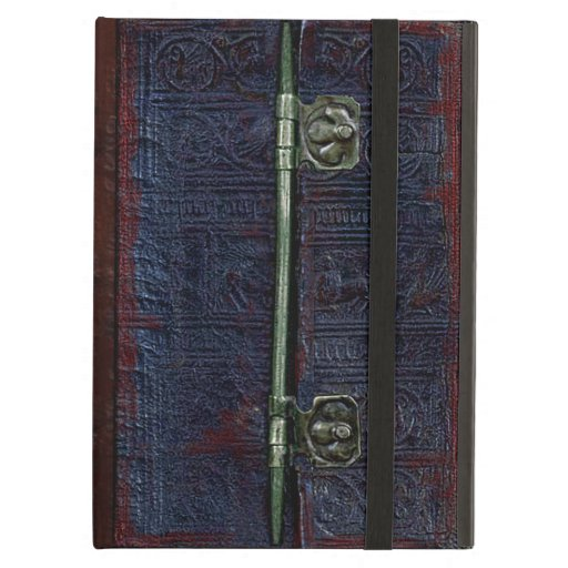 Vintage Book Cover For Ipad Air : A centuries old worn leather and brass book cover ipad air