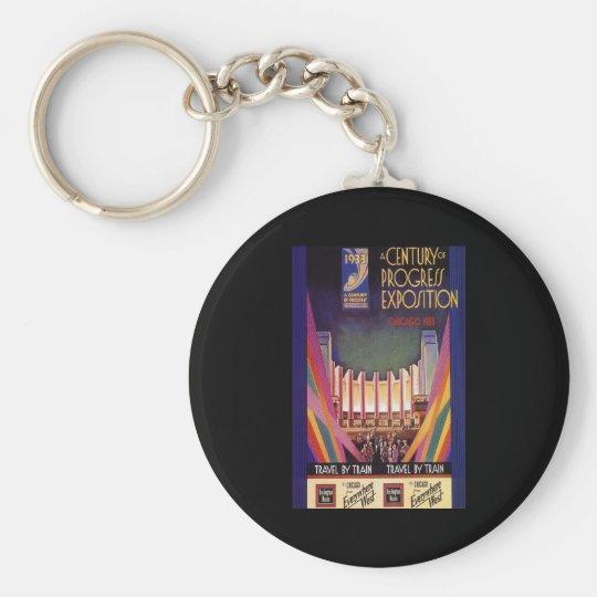 A Century Of Progress Exposition Chicago 1933 Keychain