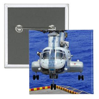 A CH-46E Sea Knight helicopter 2 Inch Square Button
