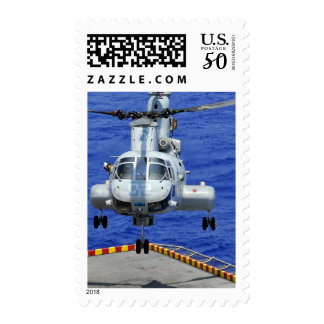 A CH-46E Sea Knight helicopter Postage