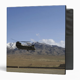 A CH-47 Chinook takes off Binder