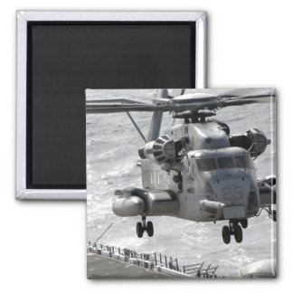 A CH-53E Super Stallion helicopter 2 Inch Square Magnet