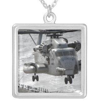 A CH-53E Super Stallion helicopter Square Pendant Necklace
