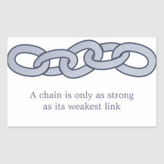 A Chain Is Only as Strong as Its Weakest Link Rectangular Sticker