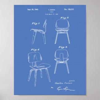 A Chair 1949 Patent Art - Blueprint Poster