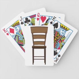A chair bicycle playing cards