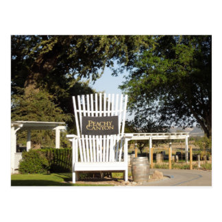 A Chair for Giants at Peach Canyon Tasting Room Postcard