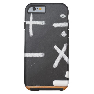 A chalkboard with mathematic symbols on it tough iPhone 6 case