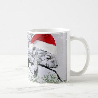 A Chameleon Christmas Wraparound Classic White Coffee Mug
