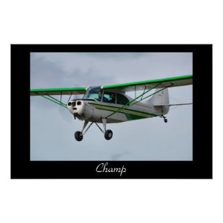 A Champ Coming in to Land Poster