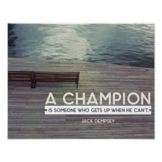 A Champion Poster