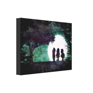 A Chance Encounter in the Woods Canvas Print