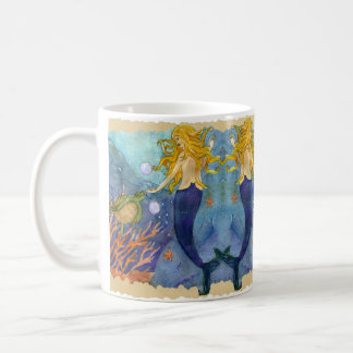 A Chance Encounter mermaid sea turtle mug