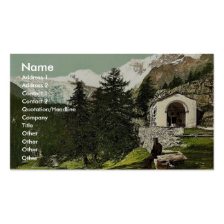 A chapel near Saas Fee Valais Alps of Switzerl Business Card