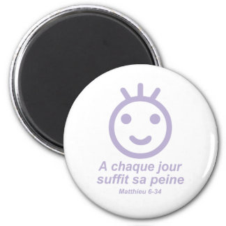 A chaque jour Smilley Lilas Magnet