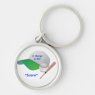 A Charge & Hit  and Score BaseBall Keychain