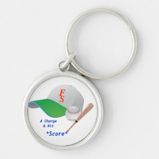 A Charge & Hit  and Score SF BaseBall Keychain