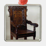 A Charles I armchair, mid 1600s Metal Ornament