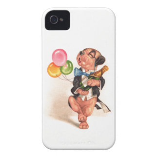 A charming Birthday Dog iPhone 4 Cover