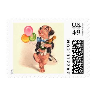 A charming Birthday Dog Stamp