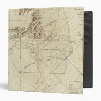 A Chart Of The Banks Of Newfoundland Vinyl Binder
