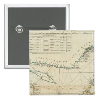 A Chart Of The Gulf Of St Lawrence 2 Inch Square Button
