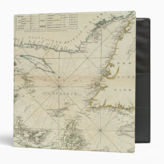 A Chart Of The Gulf Of St Lawrence 3 Ring Binder