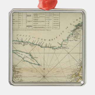 A Chart Of The Gulf Of St Lawrence Metal Ornament