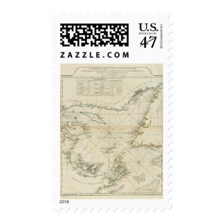 A Chart Of The Gulf Of St Lawrence Postage