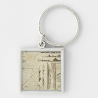 A chart of the Maderas and Canary Islands Keychain
