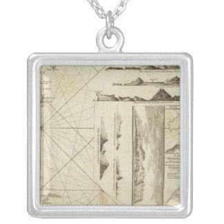 A chart of the Maderas and Canary Islands Silver Plated Necklace