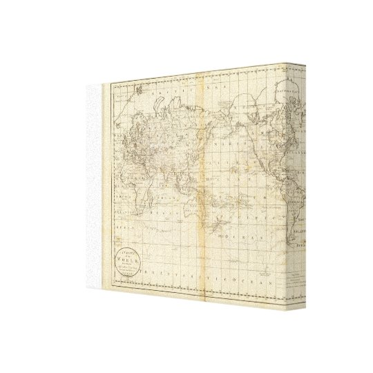 A Chart of the World Canvas Print