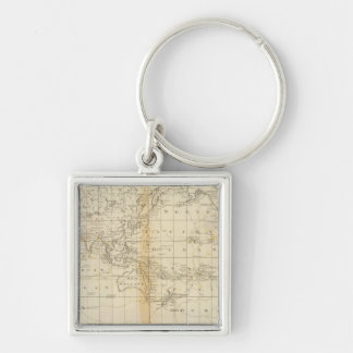 A Chart of the World Keychain