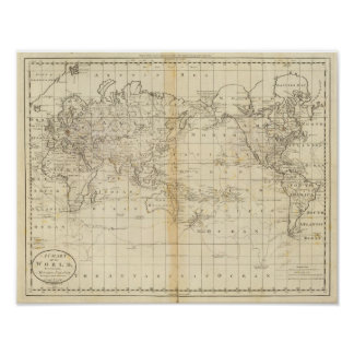 A Chart of the World Poster