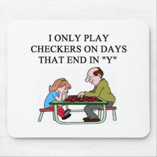 a checkers player mouse pad