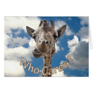 A cheeky Giraffe with attitude Card