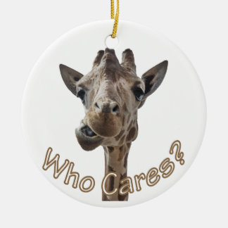 A cheeky Giraffe with attitude Ceramic Ornament