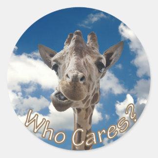 A cheeky Giraffe with attitude Classic Round Sticker