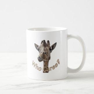 A cheeky Giraffe with attitude Coffee Mug