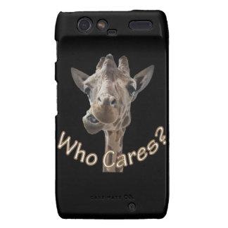 A cheeky Giraffe with attitude Motorola Droid RAZR Case
