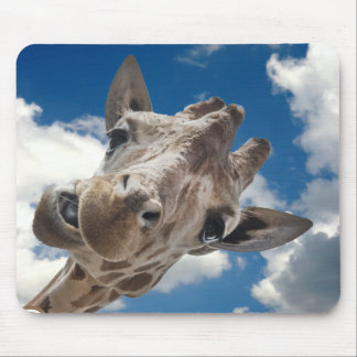 A cheeky Giraffe with attitude Mouse Pad