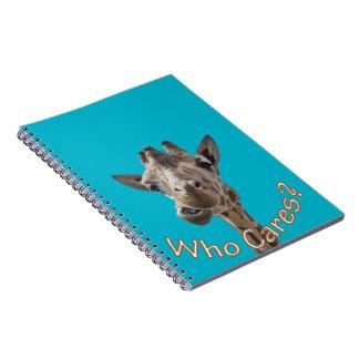 A cheeky Giraffe with attitude Spiral Notebook