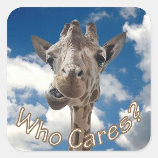 A cheeky Giraffe with attitude Square Sticker