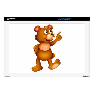 A cheerful bear laptop skins