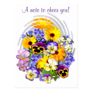 A CHEERFUL NOTE ~ Postcard
