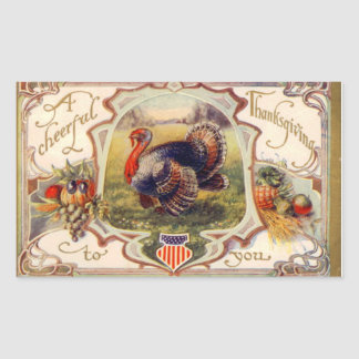 A Cheerful Thanksgiving to You Vintage Sticker